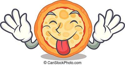 πιάτο , τυρί , χαρακτήρας , γλώσσα , πίτα με τομάτες και τυρί , έξω