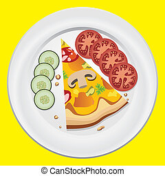 πιάτο , φέτα , πίτα με τομάτες και τυρί , ιταλίδα