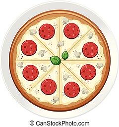 πιάτο , pepperoni pizza