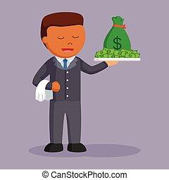 πιατέλα , χρήματα , επιχειρηματίας , αφρικανός