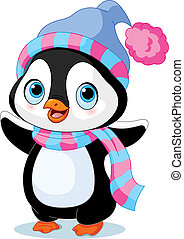 πιγκουίνος , χειμώναs , χαριτωμένος