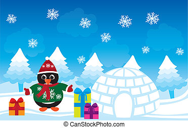 πιγκουίνος , xριστούγεννα , μικροβιοφορέας