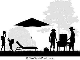 πικνίκ , οικογένεια , κήπος