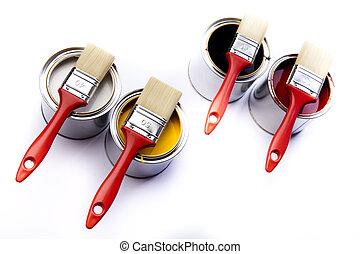 πινέλο , cans