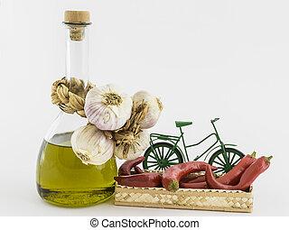 πιπέρι , έλαιο , ελιά , καλαθοσφαίριση , σκόρδο , κόκκινο