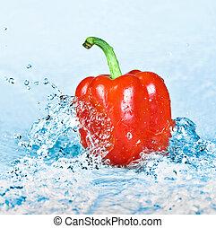 πιπέρι , και , νερό