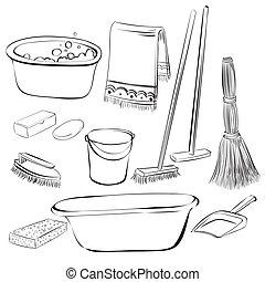 πλένω , εργαλεία , καθάρισμα , αδυναμία