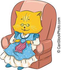 πλέξιμο , γάτα