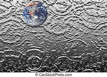 πλανήτης γαία , επάνω , νερό , βορβορώδης