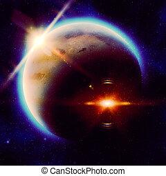 πλανήτης , μεγάλος , κόκκινο