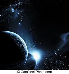 πλανήτης , με , ανατολή