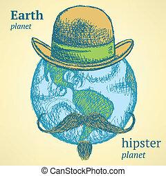 πλανήτης , ρυθμός , γη , δραμάτιο , μανιώδης της τζάζ