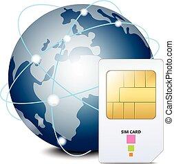 πλανήτης , sim , κάρτα , εικόνα