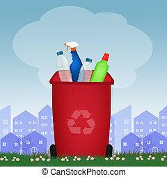 πλαστικός , ανακυκλώνω δοχείο