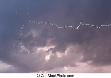 πλευρά , θαμπάδα , γκρί , καταιγίδα , αστραπή