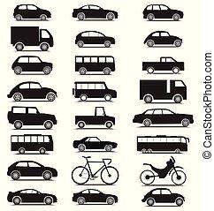 πλευρά , συλλογή , μαύρο , χρώμα , όχημα , βλέπω