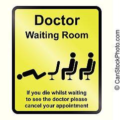 πληροφορία , αναμονή , γιατροί , δωμάτιο , σήμα