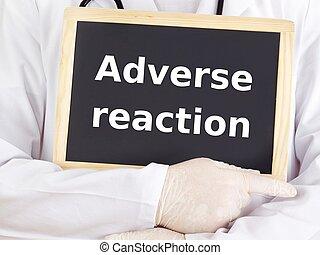 πληροφορία , αντίδραση , γιατρός , αντίθετος , blackboard:, αποδεικνύω
