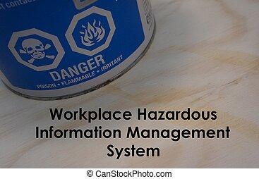 πληροφορία , επικίνδυνος , διεύθυνση , χώρος εργασίας , σύστημα