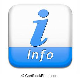 πληροφορία , κουμπί