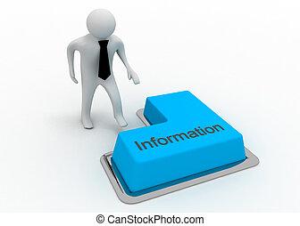πληροφορία , κουμπί , 3d , άντραs