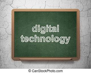 πληροφορία , concept:, αναφερόμενος σε ψηφία τεχνική ορολογία , επάνω , chalkboard , φόντο