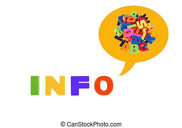 πληροφορίες , γραμμένος , μέσα , με πολλά χρώματα , πλαστικός , μικρόκοσμος , γράμματα