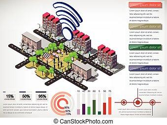 πληροφορίες , πόλη , γενική ιδέα , αστικός , εικόνα , γραφικός
