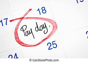 πληρώνω , ημέρα , επάνω , calendar.