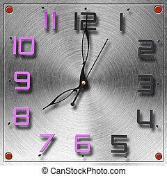 πλοκή , μέταλλο , εγκύκλιος , μοντέρνος , ρολόι , ακουμπώ