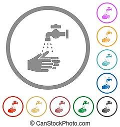 πλύση , απεικόνιση , διαμέρισμα , γενικές γραμμές , χέρι
