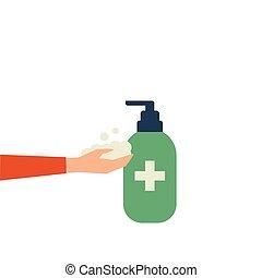 πλύση , διαμέρισμα , χέρι , εικόνα , sanitizer