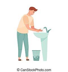 πλύση , εικόνα , ανάμιξη , πλένω , μικροβιοφορέας , αντέχω , ακάθιστος , δικός του , άντραs