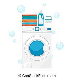 πλύση , εικόνα , μηχανή , πλένω , μικροβιοφορέας , ρούχα