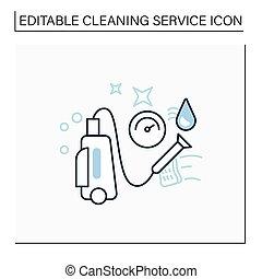 πλύση , εικόνα , πίεση , γραμμή