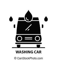 πλύση , σήμα , γενική ιδέα , αποπληξία , μαύρο , αυτοκίνητο , editable, εικόνα , εικόνα , μικροβιοφορέας