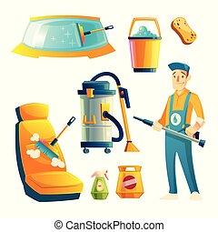πλύση , υπηρεσία , αυτοκίνητο , χαρακτήρας , μικροβιοφορέας , γελοιογραφία