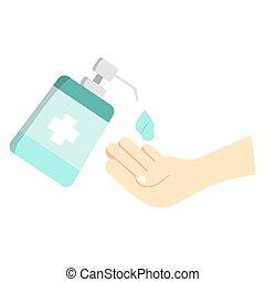πλύση , sanitizer, χέρι