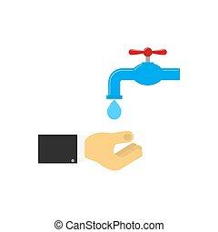 πλύση , water., χέρι , τρέξιμο , κάτω από