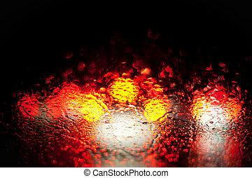 πνεύμονες ζώων , αυτοκίνητο , βροχή , θολός