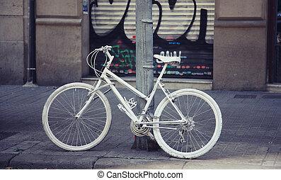 ποδήλατο , άσπρο