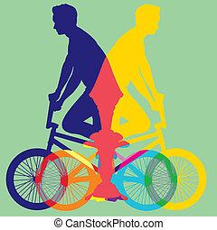 ποδήλατο , γραφικός , μικροβιοφορέας