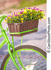 ποδήλατο , με , λουλούδια