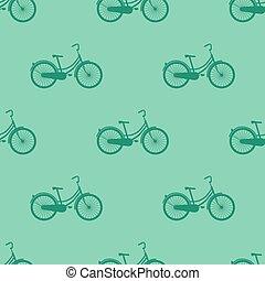 ποδήλατο , μικροβιοφορέας , pattern., seamless, εικόνα