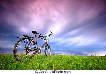 ποδήλατο , φόντο