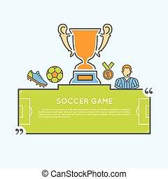 ποδόσφαιρο αγώνας , γενική ιδέα