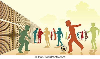 ποδόσφαιρο , αυλή σχολείου