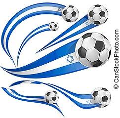 ποδόσφαιρο , ισραήλ , θέτω , σημαία , μπάλα