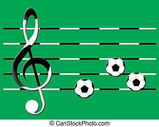 ποδόσφαιρο , μουσική
