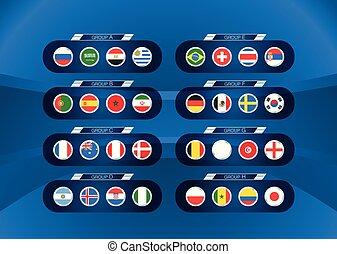ποδόσφαιρο , πρωτάθλημα , infographic, σημαίες , φόρμα , scheme.